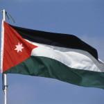 Die Staatsflagge des Koenigreichs Jordanien